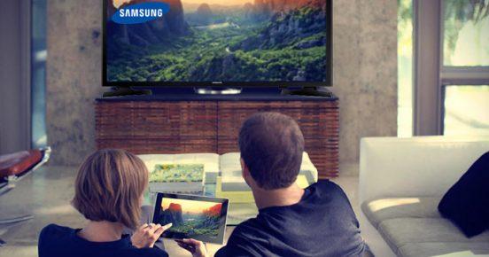 Smart TV in gebruik